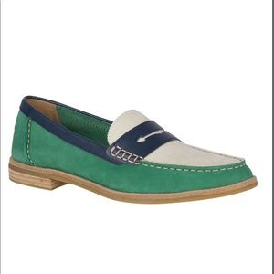 Sperry Top Slider Seaport Tri-Tone Penny Loafer
